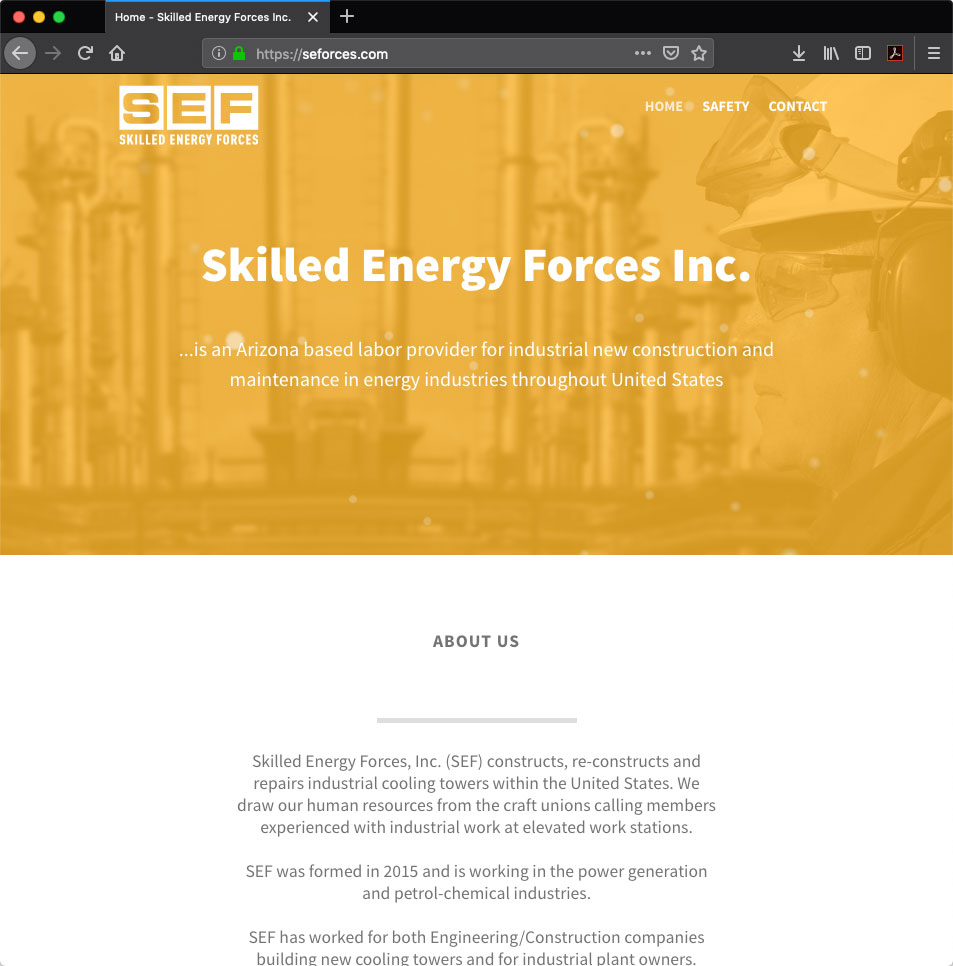 Skilled Energy Forces - Trevis Hafso, Tucson AZ