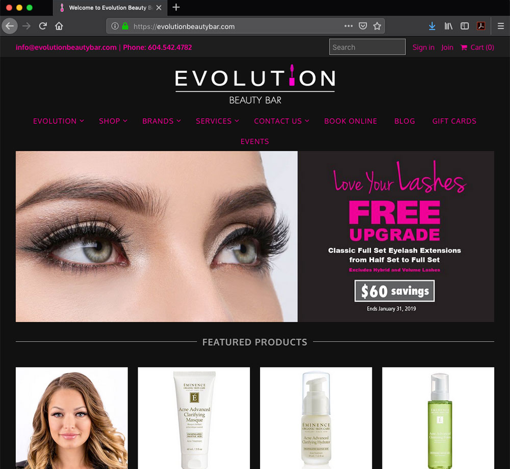 Evolution Beauty Bar - a beauty services store in Surrey B.C.